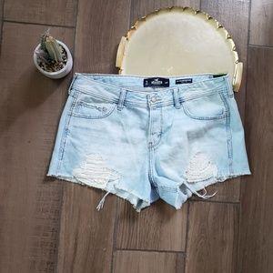 Hollister low rise boyfriend jean shorts 13 lace